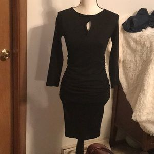 Michael Stars ruched bodycon dress size small
